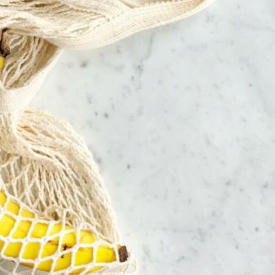 image of banana in produce bag