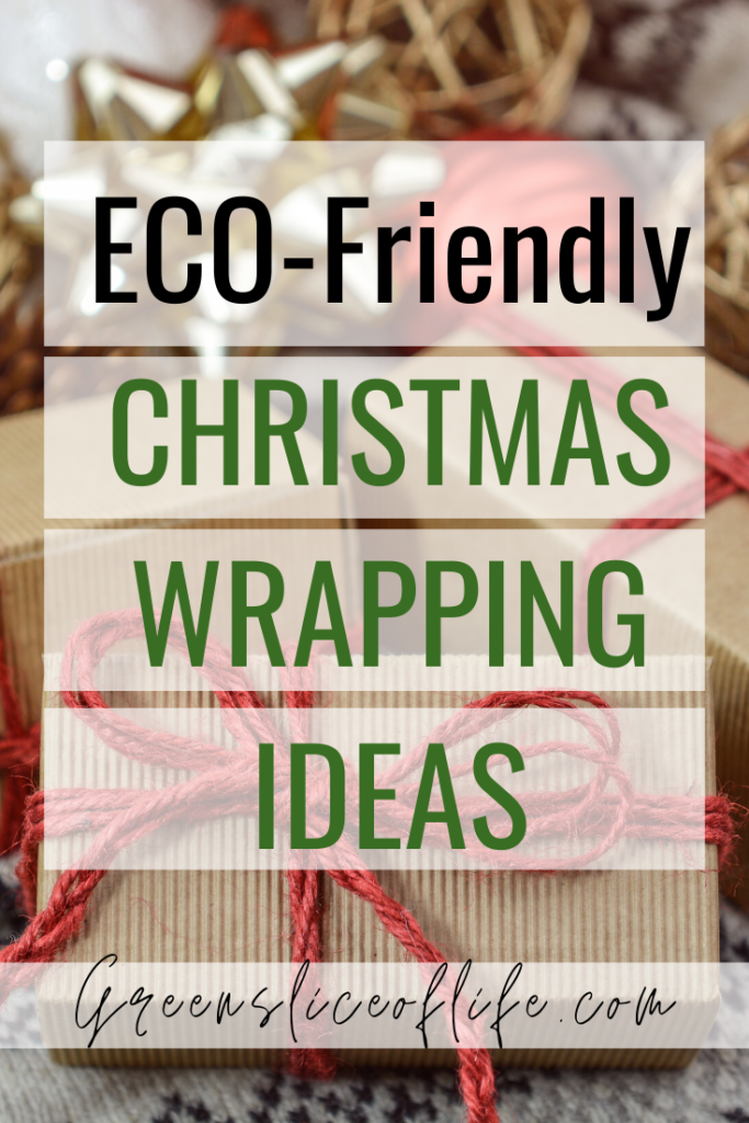 This is a pinnable image for Eco-Friendly Christmas Wrapping Ideas