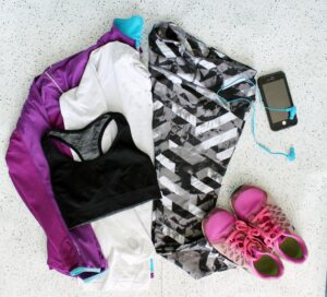 running outfit for mild days