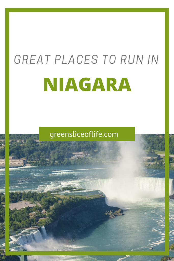 PInterest Image for Best Places to Run in Niagara showing Niagara Falls
