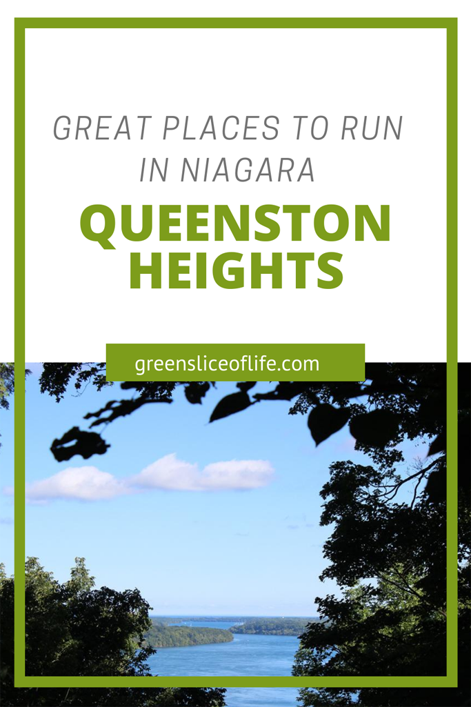 Pinterest Image for Best Places to run in Niagara showing Queenston Heights