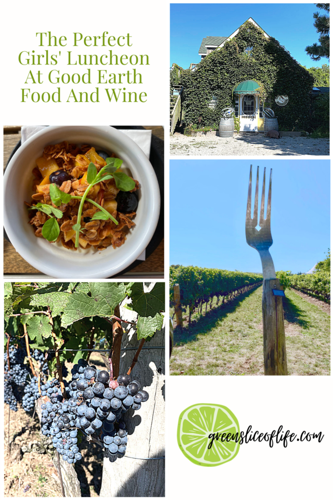 Collage of images taken at Good Earth Food and Wine