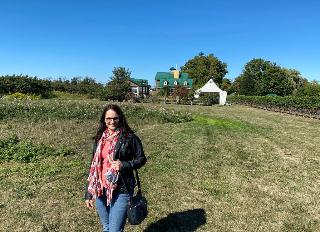 Image of me standing in a field at Good Earth Food and Wine