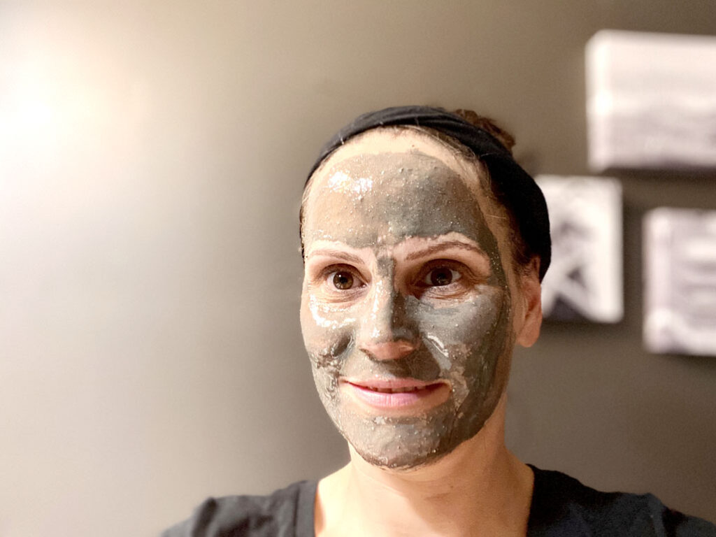 Garden City Essential's Clay mask mixed with honey