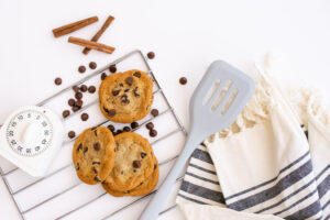 Image for Gift Guide For Foodies showing baking supplies and cookies
