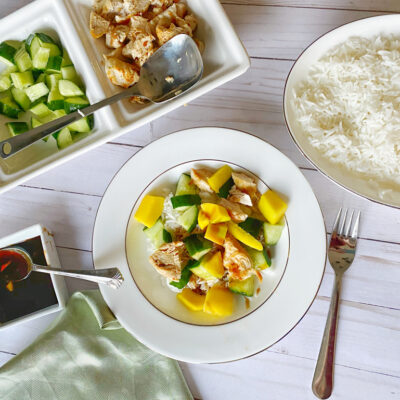 Quick, Easy, Healthy Mango Chicken Rice Bowl