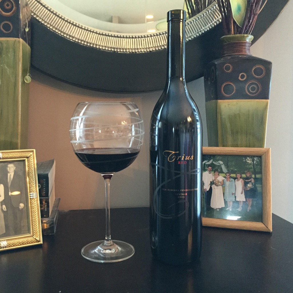 Image of red wine Trius Red, Best Niagara Red Wines for The Christmas Table