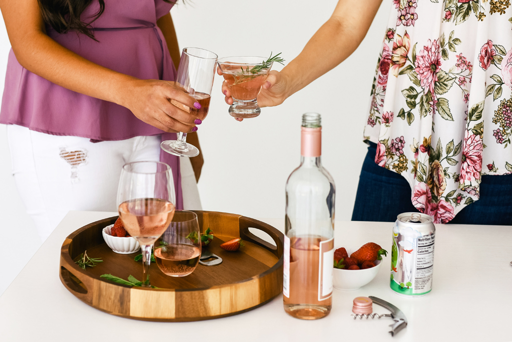 Image of ladies drinking pink wine