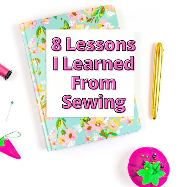 Image of notepad and sewing notions