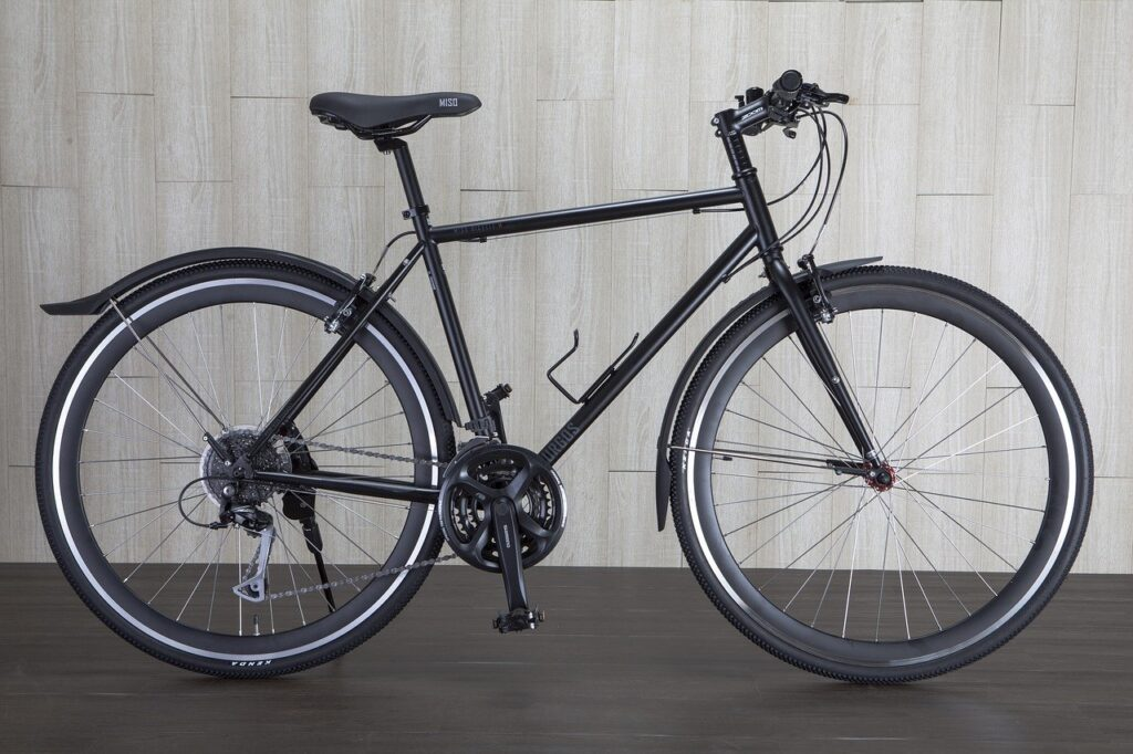 Image of a hybrid bike
